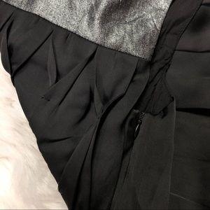 Miss Me Dresses - Miss Me Black Silver Metallic Trapeze Dress